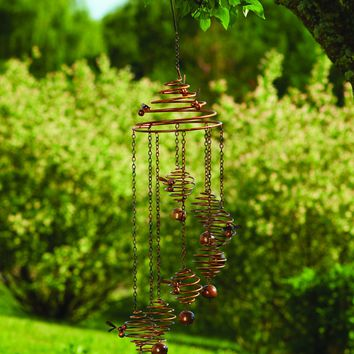 Bee Spiral w/Bells Mobile Wind Chime