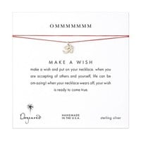 ommmmmmm, om charm necklace on red, sterling silver - Dogeared
