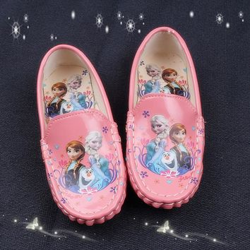 New Girl Children's Slip-on Loafers Oxford Flat Elsa Shoes Kids Fashion Sneaker Baby
