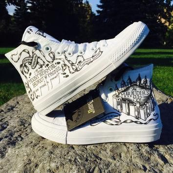converse chuck 2 marauder s map harry potter shoes