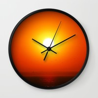 SUNSET Wall Clock by Chrisb Marquez | Society6