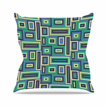 "Trebam ""Jesen"" Green Yellow Throw Pillow"