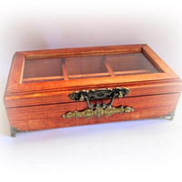 Men's Watch Box Personalized Men's Gift Watch Display Watch Case Watch Holder Anniversary Birthday Gift Best man Gift Wood Watch Organizer