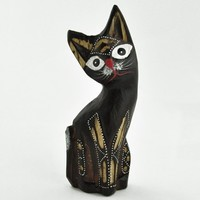 Fancy Sitting Kitty Sculpture -- Mexicali Blues