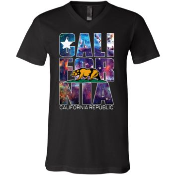 California Cosmic Retro Asst Colors V-Neck