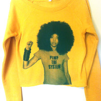 Erykah Badu Ladies Cropped Crew