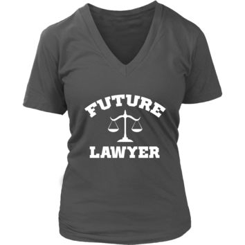 Future Lawyer Career Tshirt - Law School Student T-Shirt - Womens Plus Size Up To 4X