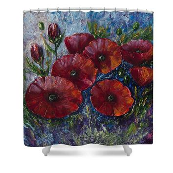 Bella Fresca Poppies  - Shower Curtain