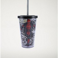 Quote Running Deadpool Marvel Cup With Straw - 16 oz. - Spencer's
