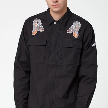 PacSun Dragon Long Sleeve Military Shacket at PacSun.com