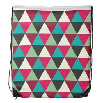 Muted Tribal Colors Geometric Pattern Backpack