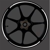 WHITE Reflective Speed Tapered Wheel Rim Tape Stripe fit Motorcycles, Cars, Trucks