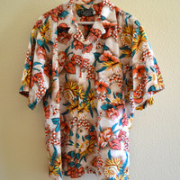 Tropical Shirt Oversized 90's Vintage Large