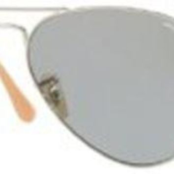 Ray-Ban - RB3025 (Aviator Large Metal) - Silver Frame-Photo Blue 58mm Lenses