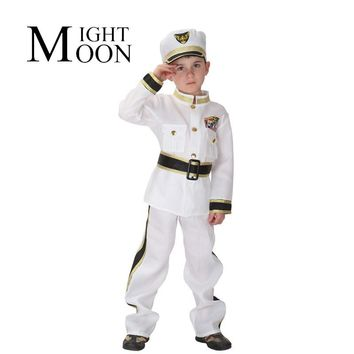 MOONIGHT Halloween Costume Children's Traffic Army Police Clothing Navy Sailors Children Show Costume For Cosplay Costume