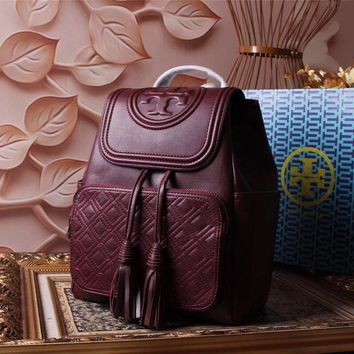 Tb Tory Burch Women's Leather Fi Backpack Bag #46331 - Best Deal Online