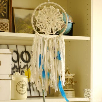 Dreamcatcher, White Dreamcatcher, Crochet Dreamcatcher, Handmade, Boho, Wall Hanging, Wall Decor, Bohemian, Wedding Dreamcatcher, Shells