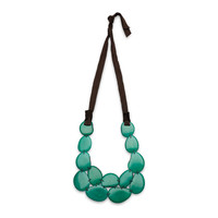 Faire Collection Teal Tagua Bib Necklace