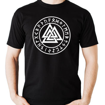 Valknut Odin Viking Symbol Runes T-Shirt Alternative Clothing Norse God Mythology