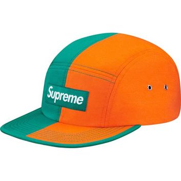 Supreme: Split Camp Cap - Marine/Orange