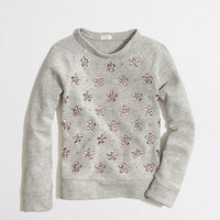 FACTORY GIRLS' JEWEL-CLUSTER SWEATSHIRT
