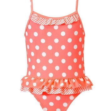 Carter's Kids Swimwear, Little Girls Polka Dot Print One Piece Swimsuit - Kids Toddler Girls (2T-5T) - Macy's