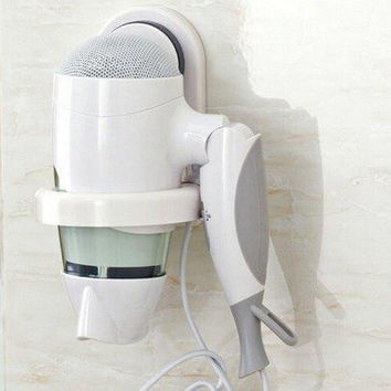 Durable Removable Wall Sucker Hair Dryer Holder