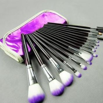 16-pcs Pale Violet Tools Fashion Make-up Brush Set [8825197831]