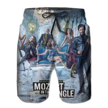 Mozart In The Jungle Cool Poster Mens Fashion Casual Beach Shorts