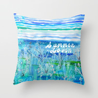 Summer Lovin Throw Pillow by Sandra Arduini