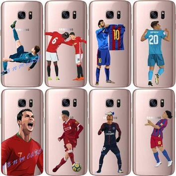 Real Madrid Ronaldo CR7 Lionel messi Mo Salah Phone Case For Samsung Galaxy A3 A5 A7  J5 J7 2016/2017 Soft silicone TPU Cover