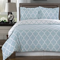 Meridian Blue 100% Combed cotton Duvet Cover Set