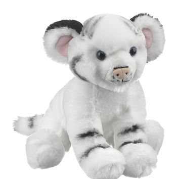 10 Inch Baby White Tiger Cub Stuffed Animal Floppy Zoo Newborn Animal