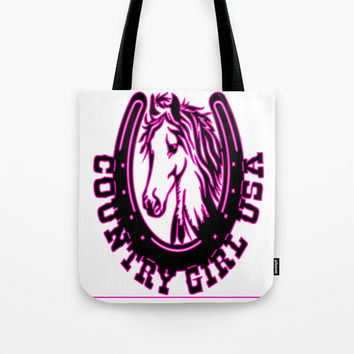 Country girl USA Tote Bag by Knm Designs