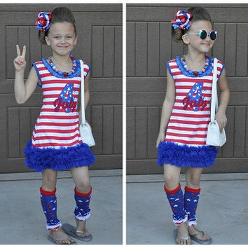 July 4th Dress, July 4th Outfit, Girls 4th of July Dress, 4th of July Outfit, Toddler 4th of July Dress, Girls Patriotic Dress,Pageant Dress