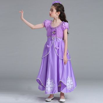 2017 Adult Rapunzel costume princess Tangled Sofia dress Halloween Costume for women long Carnival Evening party dresses girl