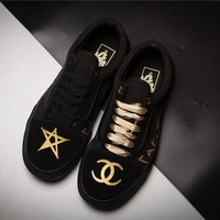 Vans x Chanel Graffiti Skateboarding Shoes 35-44