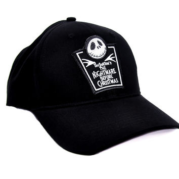 Nightmare Before Christmas Tombstone Hat Baseball Cap Gothic Clothing