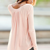 Pleated Satin-back Tunic - Angel Tees - Victoria's Secret