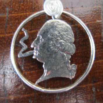 Smoking George Hand Cut Coin
