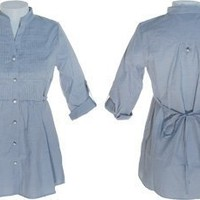 ROMEO & JULIET COUTURE Pinstriped Military Style Shirt $15.00