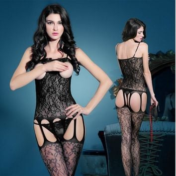 sexy lingerie suit  pajamas fishnet bodysuit, lingerie erotica underwear lace body stocking,women stripper clothes mesh bodysuit