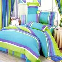 Rhythm of Life 8pc Comforter Set Combo Queen Size: Baby Bedding | Kids Bedding | Rag Quilts | Kids Rooms | Quilts Just 4 Kids