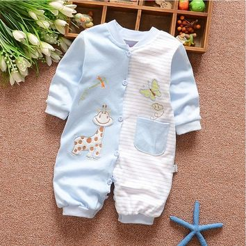 0-12 months girls baby clothes outfits sports brand cotton Jumpsuit costume for infant baby's boys clothing long-sleeved Rompers