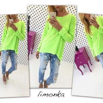 Women's Casual Loose Pullover T Shirt Long Sleeve Tops Shirt Tunic