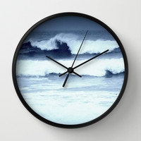dancing waves Wall Clock by Marianna Tankelevich