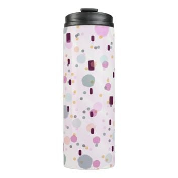 Watercolor Splash Effect Pattern Thermal Tumbler