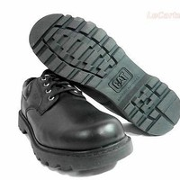CAT Caterpillar Mens Leather Falmouth Oxford Boots- Black - Size 11