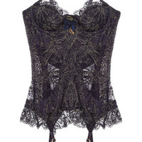Agent Provocateur | Cordeliyah embroidered lace basque