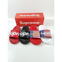 New Arrival Fashion Supreme Men Flag Slipper Sandals